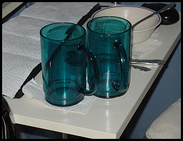 A shot of my usual drinking cups.