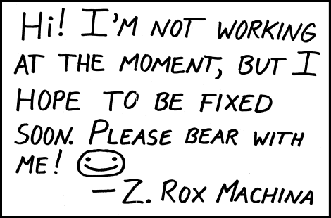 A message from Z. Rox Machina.