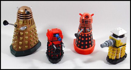 Davros's creations in assorted sizes!