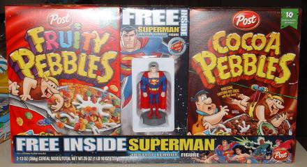 Fruity Pebbles, SUPERMAN, and Cocoa Pebbles!!!