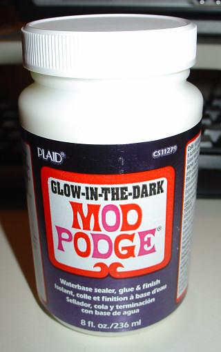 Glow-In-the-Dark Mod Podge!!!
