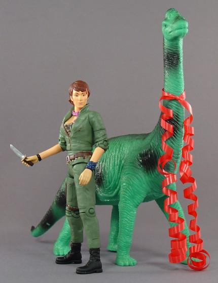 Helen Cutter and a fancy brachiosaurus!